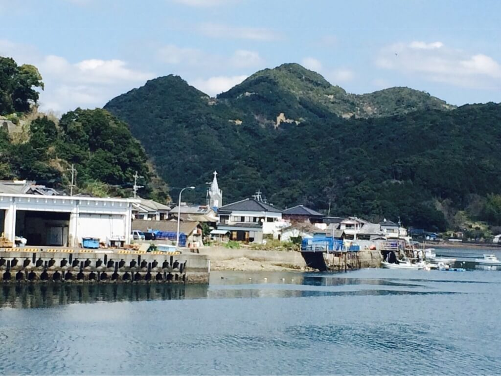 世界文化遺産、崎津の風景