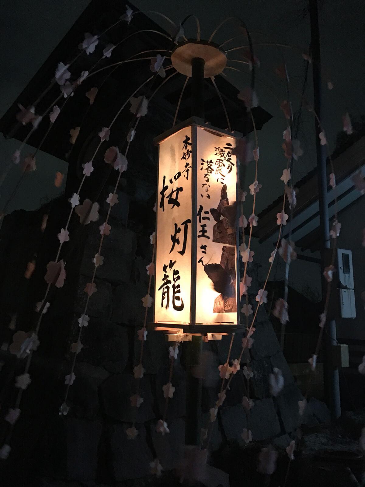 仁王さん 桜灯籠